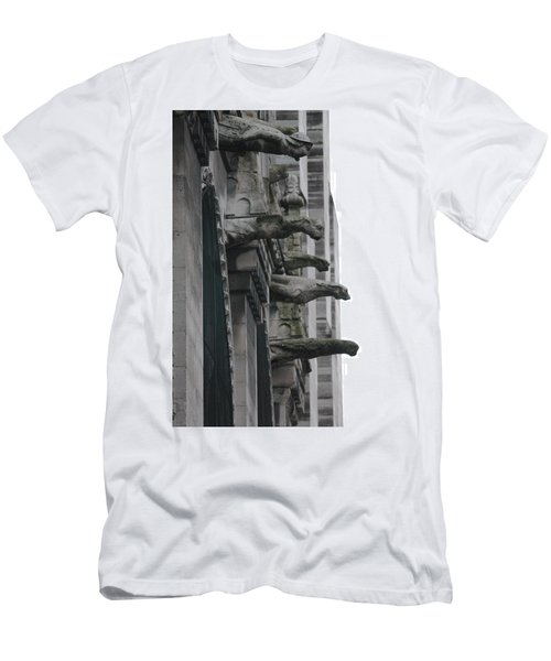 Men's T-Shirt (Slim Fit) featuring the photograph Row Of Gargoyles by Christopher Kirby