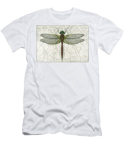 Ruby Meadowhawk Dragonfly Men's T-Shirt (Athletic Fit)
