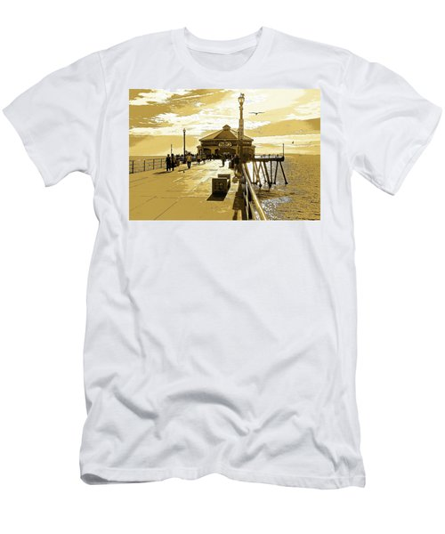Men's T-Shirt (Slim Fit) featuring the photograph Ruby's At The Pier by Everette McMahan jr
