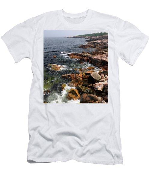 Rugged Coastline At Mackinnons Cove In Cape Breton Highlands Nat Men's T-Shirt (Athletic Fit)