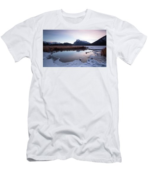 Rundle Mountain Reflections Men's T-Shirt (Athletic Fit)