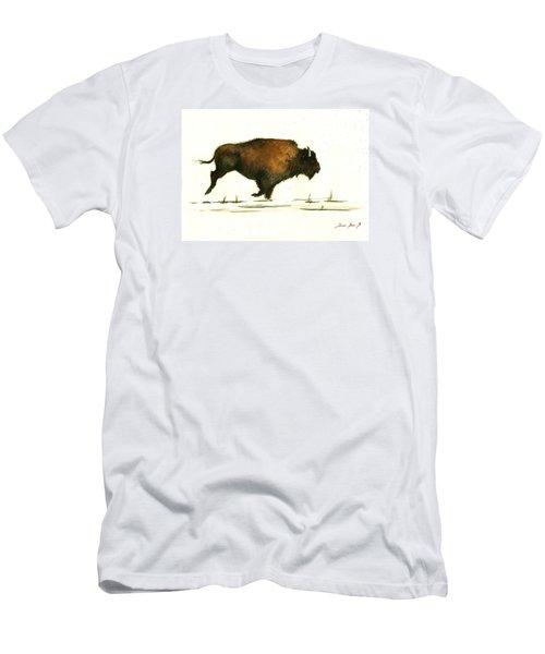 Running Buffalo Men's T-Shirt (Athletic Fit)