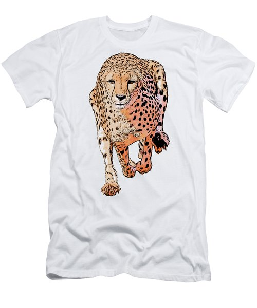 Running Cheetah Cartoonized #1 Men's T-Shirt (Athletic Fit)
