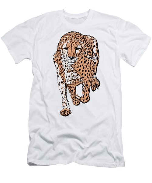 Running Cheetah Cartoonized #2 Men's T-Shirt (Athletic Fit)