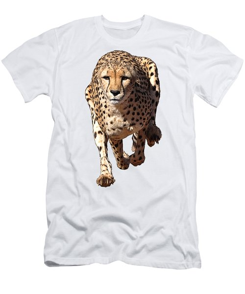 Running Cheetah Cartoonized #3 Men's T-Shirt (Athletic Fit)