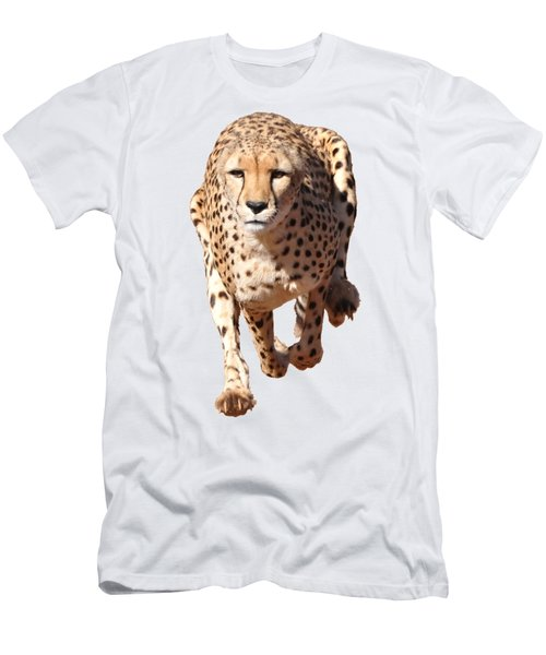 Running Cheetah, Transparent Background Men's T-Shirt (Athletic Fit)