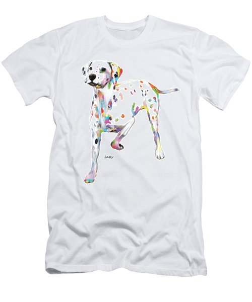 Running Dalmatian Men's T-Shirt (Athletic Fit)