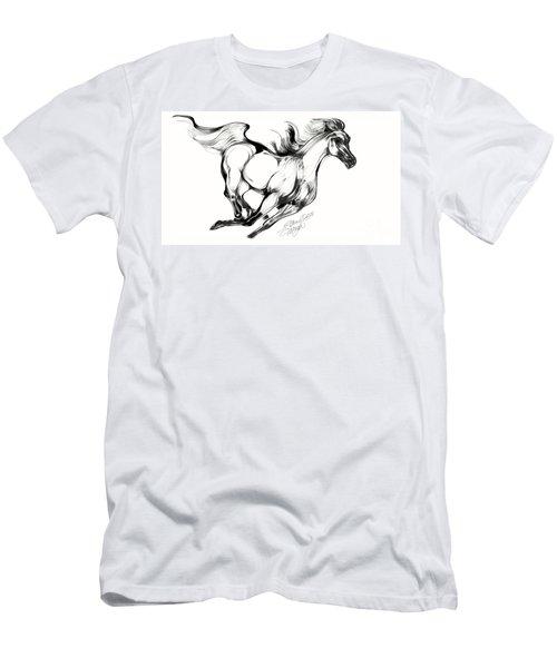 Night Running Horse Men's T-Shirt (Athletic Fit)