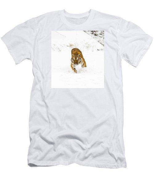 Running Tiger Men's T-Shirt (Athletic Fit)
