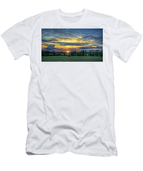 Men's T-Shirt (Athletic Fit) featuring the photograph Rural Sunset by Lewis Mann