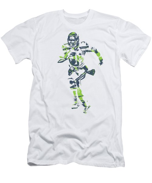 Russell Wilson Seattle Seahawks Pixel Art T Shirt 2 Men's T-Shirt (Athletic Fit)