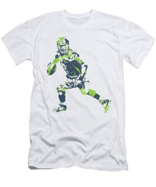 Russell Wilson Seattle Seahawks Pixel Art T Shirt 3 Men's T-Shirt (Athletic Fit)