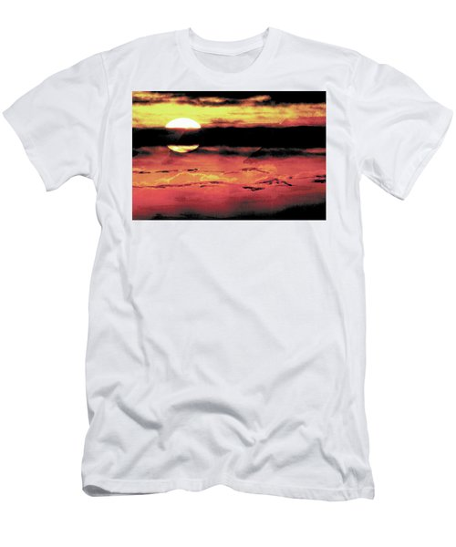 Russet Sunset Men's T-Shirt (Slim Fit) by Paula Ayers