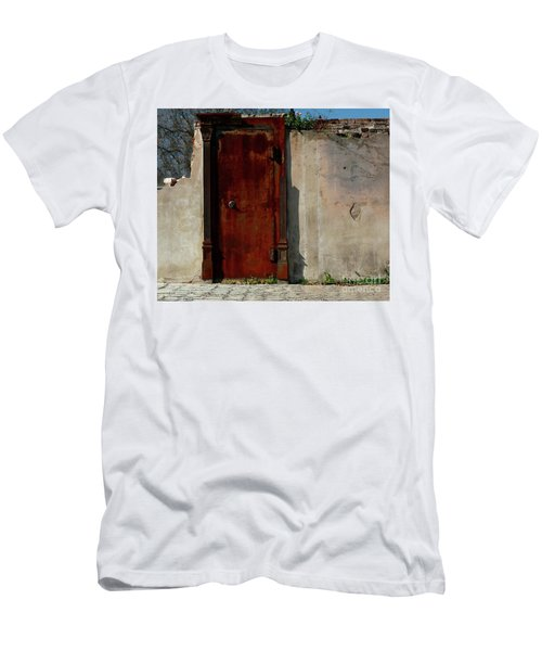 Men's T-Shirt (Athletic Fit) featuring the photograph Rustic Ruin by Lori Mellen-Pagliaro