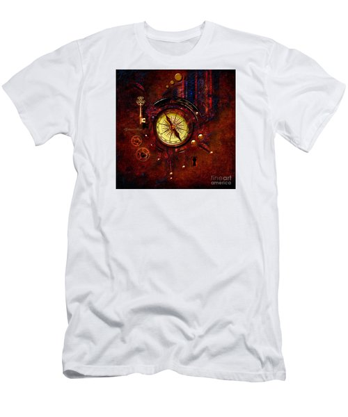 Men's T-Shirt (Slim Fit) featuring the digital art Rusty Time Machine by Alexa Szlavics