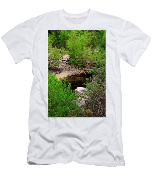 Men's T-Shirt (Athletic Fit) featuring the photograph Sabino Canyon Op44 by Mark Myhaver