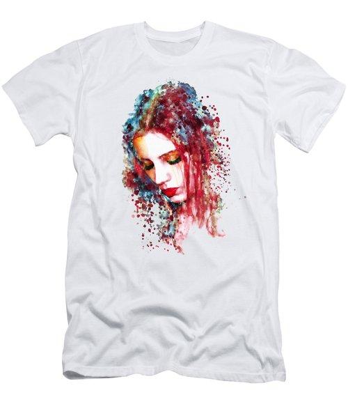 Sad Woman Men's T-Shirt (Athletic Fit)