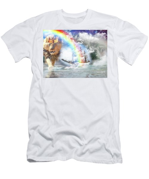 Men's T-Shirt (Slim Fit) featuring the digital art Safe Harbor  by Dolores Develde
