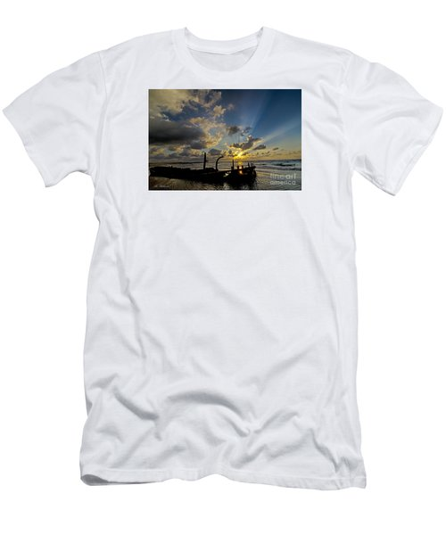 Men's T-Shirt (Slim Fit) featuring the photograph Safe Shore 03 by Arik Baltinester