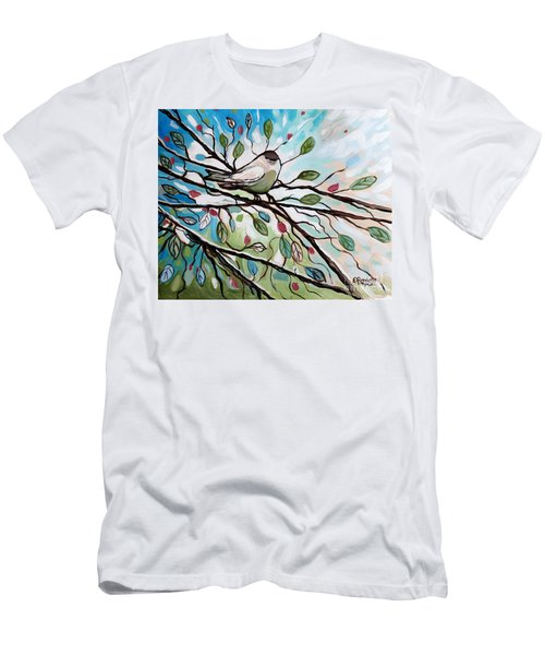 Sage Glimmering Songbird  Men's T-Shirt (Athletic Fit)