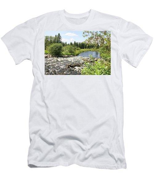 Saginas Lake Men's T-Shirt (Athletic Fit)