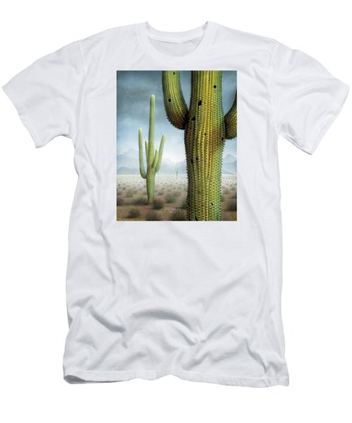 Saguaro Cactus Landscape Men's T-Shirt (Slim Fit) by James Larkin