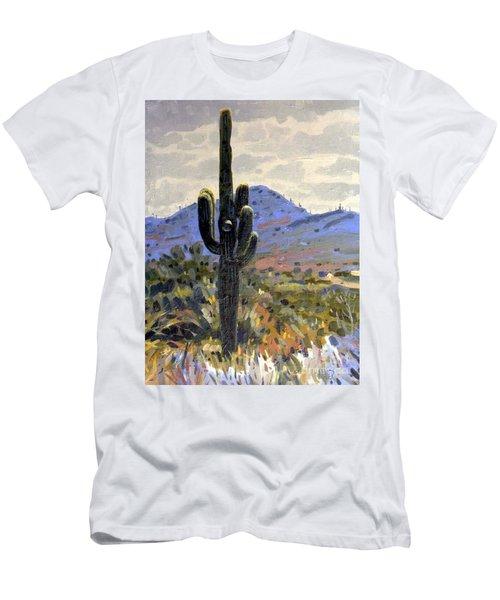 Saguaro Men's T-Shirt (Slim Fit) by Donald Maier