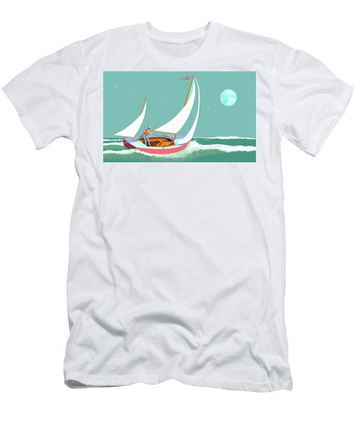 Moonlight Sail Men's T-Shirt (Athletic Fit)