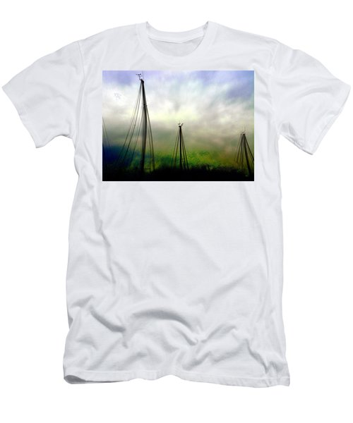 Men's T-Shirt (Athletic Fit) featuring the photograph Sailing by EDi by Darlene
