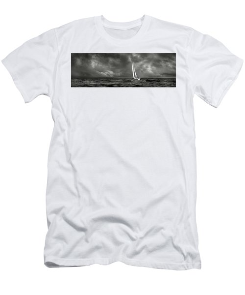 Sailing The Wine Dark Sea In Black And White Men's T-Shirt (Athletic Fit)