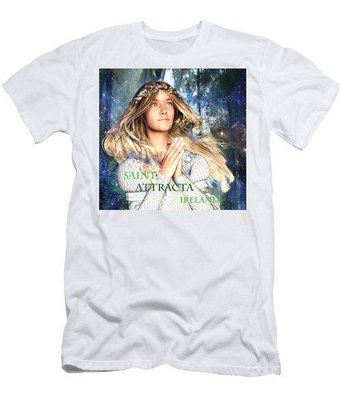 Saint Attracta Irish Light Men's T-Shirt (Slim Fit) by Suzanne Silvir