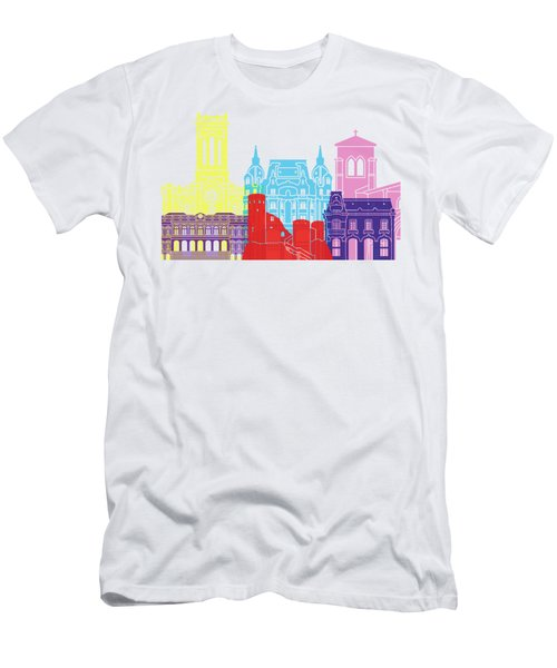 Saint Etienne Skyline Pop Men's T-Shirt (Athletic Fit)