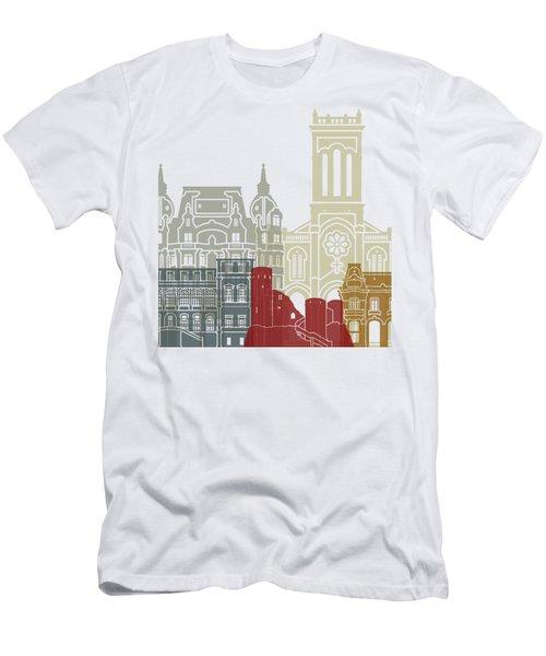 Saint Etienne Skyline Poster Men's T-Shirt (Athletic Fit)
