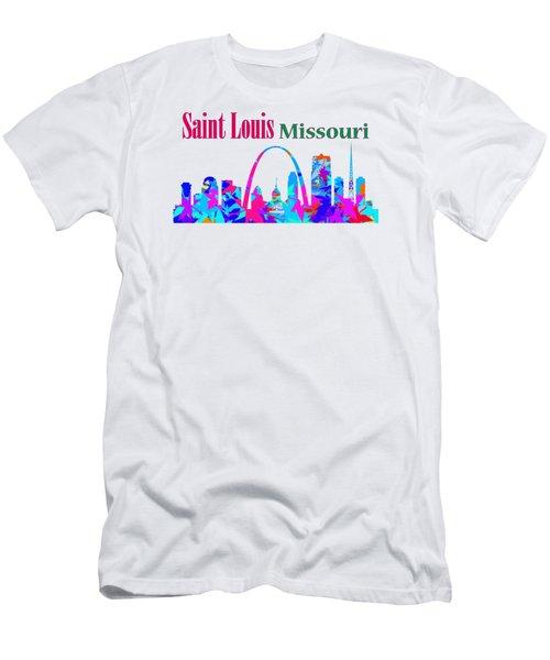 Men's T-Shirt (Athletic Fit) featuring the digital art Saint Louis Missouri by David Millenheft