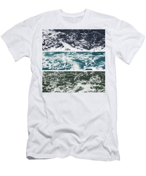 Salt Water Triptych Variation 2 Men's T-Shirt (Athletic Fit)