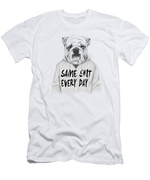 Same Shit... Men's T-Shirt (Slim Fit) by Balazs Solti