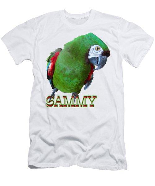 Sammy The Severe Men's T-Shirt (Slim Fit) by Zazu's House Parrot Sanctuary
