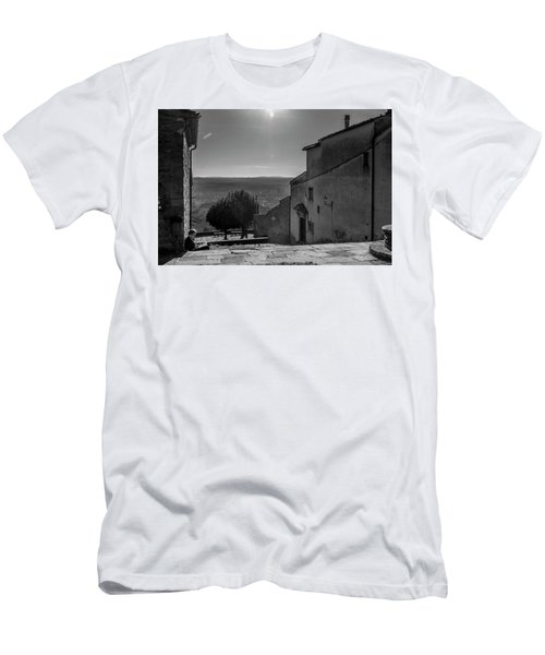 Men's T-Shirt (Slim Fit) featuring the photograph San Francesco Monastery - Fiesole, Italia. by Sonny Marcyan