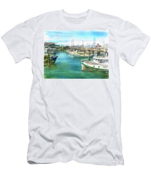 San Francisco Fishing Boats Men's T-Shirt (Slim Fit) by Michael Cleere