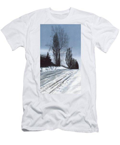 San Juan Snow Men's T-Shirt (Slim Fit) by Laurie Stewart