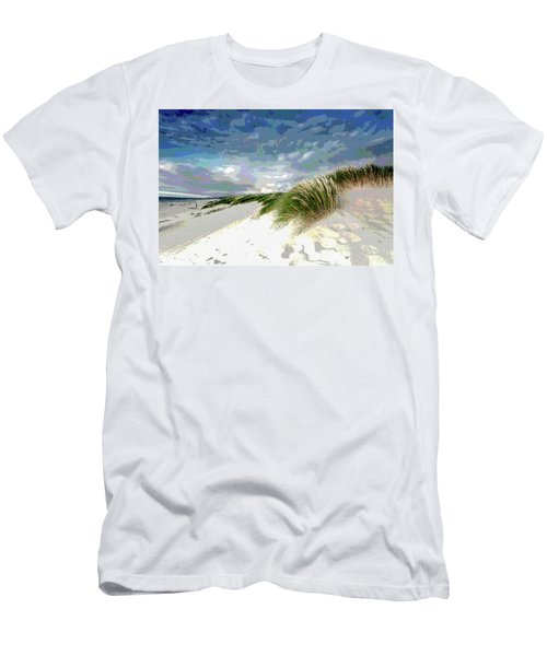 Sand And Surfing Men's T-Shirt (Slim Fit) by Charles Shoup