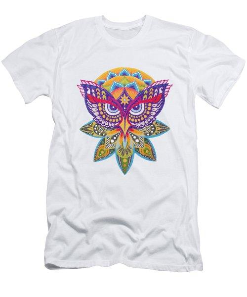 Sand Art Owl Mandala Men's T-Shirt (Athletic Fit)