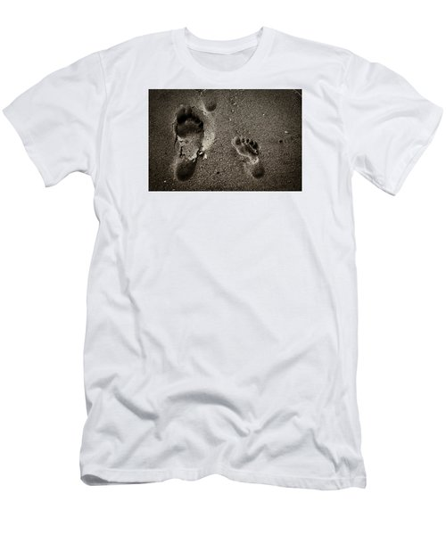 Sand Feet Men's T-Shirt (Slim Fit) by Lora Lee Chapman