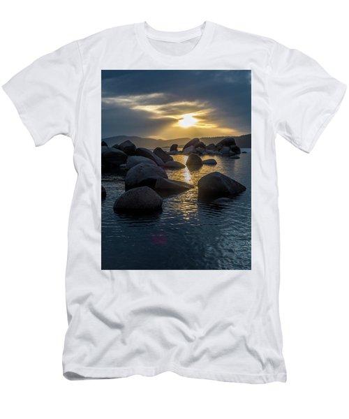 Sand Harbor Light Men's T-Shirt (Athletic Fit)