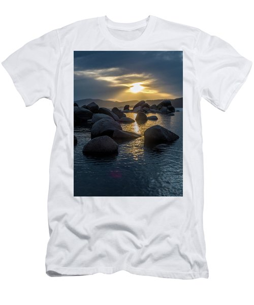 Sand Harbor Light Men's T-Shirt (Athletic Fit)