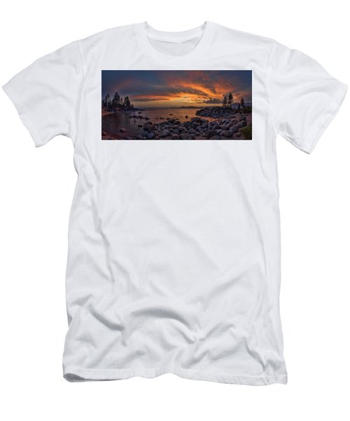 Sand Harbor Sunset Panorama Men's T-Shirt (Athletic Fit)