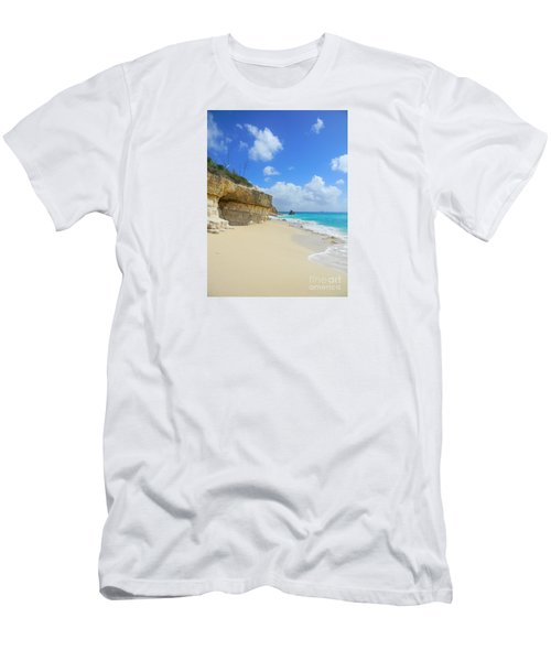 Sand Sea And Sky Men's T-Shirt (Slim Fit) by Expressionistart studio Priscilla Batzell