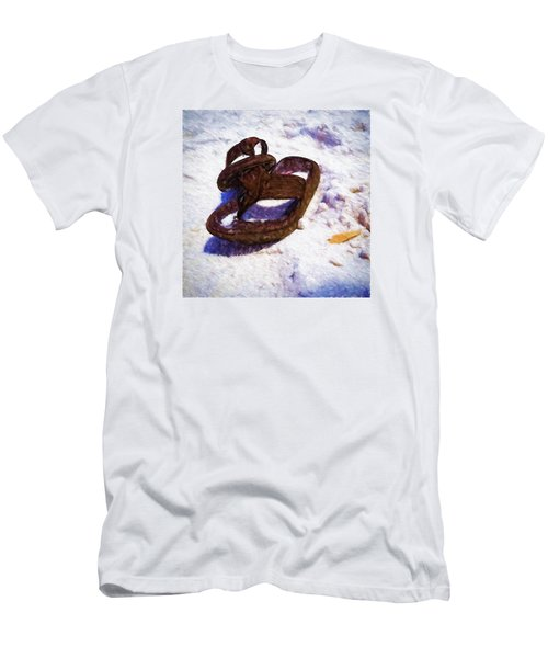 Sandals In The Sand Men's T-Shirt (Slim Fit) by Rena Trepanier