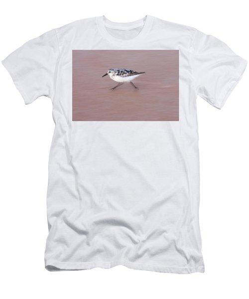 Sanderling On The Run Men's T-Shirt (Athletic Fit)