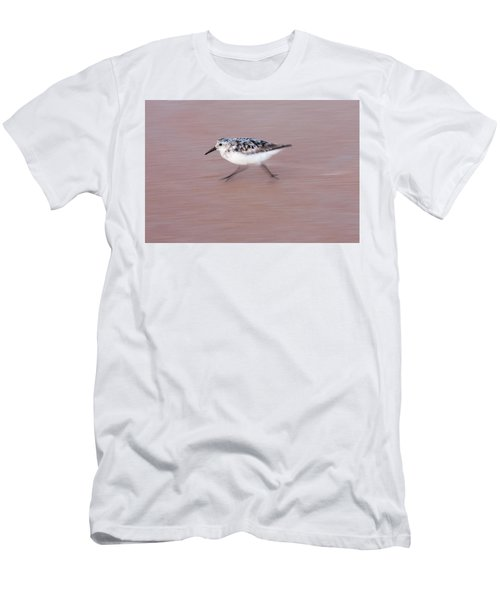 Sanderling On The Run Men's T-Shirt (Athletic Fit)
